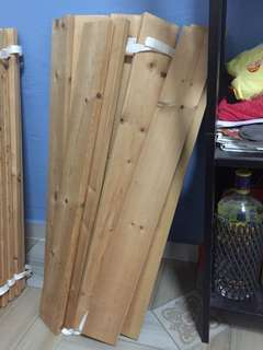24 wooden slats