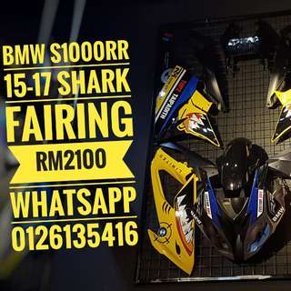 Good morning yellow shark:) BMW s1000rr 15-17 shark fairing rm2100 whatsapp 0126135416 Readystock readypos