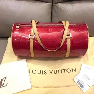 LOUIS VUITTON BEDFORD VERNIS BAG LV 漆皮壓花 圓筒形 手挽袋 手袋