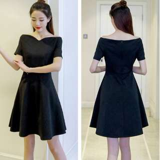 KOREAN OFF SHOULDER A LINE DRESS ( pre-order