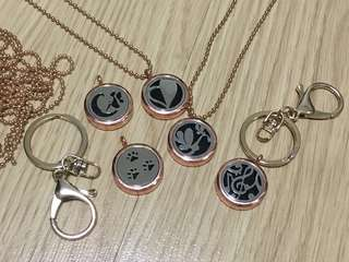 Diffuser locket with chain / keychain