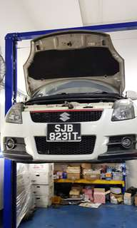 Suzuki swift sport scraping.