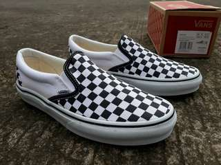 VANS SLIP-ON CHECKERBOARD BLACK/WHITE