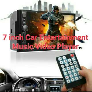 7 Inch Car Entertainment Player Music Video Bluetooth