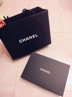 Chanel紙袋+盒 中size