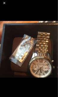 Michael Kors Lexington Silver Gold Watch