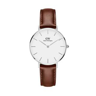 100% Original [SALES] Daniel Wellington Watch Classic Petite Collection St Mawes Silver 28mm / 32mm White Face Free Delivery