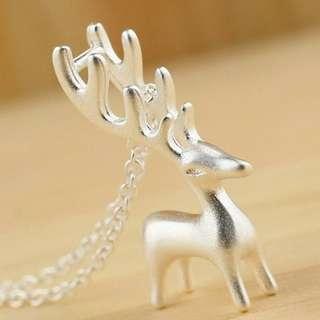 Reindeer Pendant 925银+铜白金吊坠