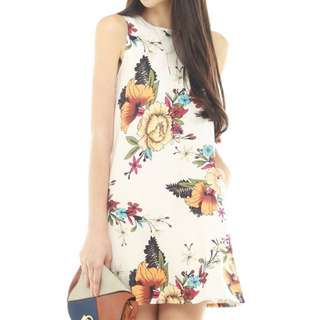 ACW Anticlockwise Tropical Floral Trapeze Dress in XS