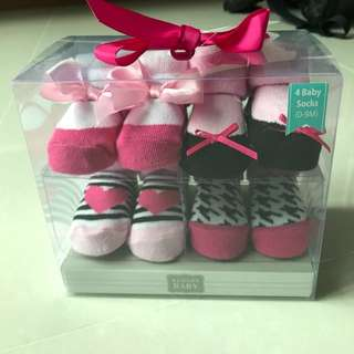 Baby Socks (4 pairs) Gift Set (for 0-9 months)