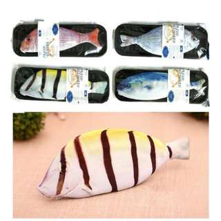 Instocks what the fish pencil cases