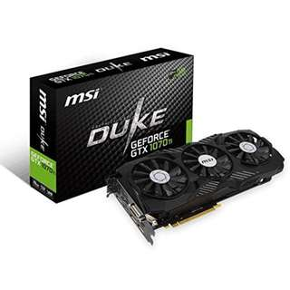 BNIB - MSI Gaming GeForce GTX 1070 TI DUKE 8G GRAPHIC CARD