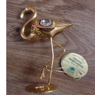 SPECTRA 24K GOLD PLATED with CRYSTAL Swan Display