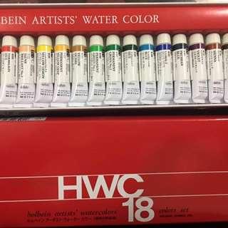 Holbein watercolours 18色 水彩 好賓 日本 顏料 99% new