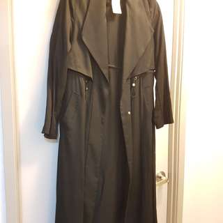 Forcast Black Trench coat (s12) RRP 180 never worn