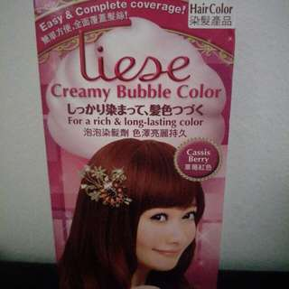 Liese creamy bubble color cassis berry