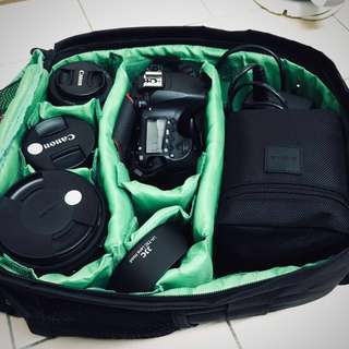 Multi-compartment Waterproof DSLR Camera Backpack