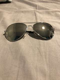 Silver aviator sunglasses