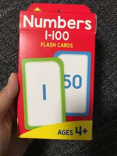 Flash Cards Number 1-100
