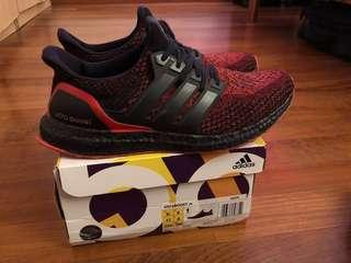 Adidas Ultra Boost Custom Black solar red