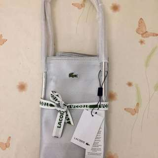 Silver Lacoste Bags