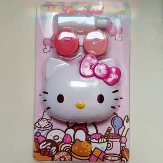 🔴33%➡️ FOLLOWERS ONLY! **Those always backout & follow but unfollow, pls detour. Thks**🔴🌟BRAND NEW IN PACKAGE🌟🐰AUTHENTIC SANRIO ORIGINAL MIRROR + Lens + Liquid bottle Storage Container box (Put cotton buds/ accessory)💋No Pet No Smoker Clean Hse💋
