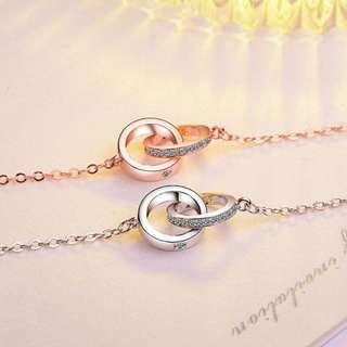 Rings Necklace 925银+铜白金吊坠 - 4 design