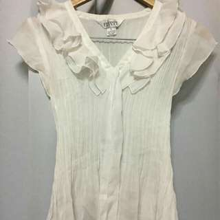 White Allison Taylor Office Blouse