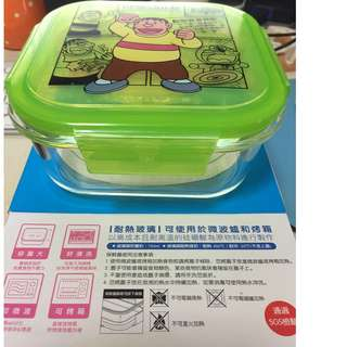 microwavable lunch box . 胖虎。 doraemon cartoon