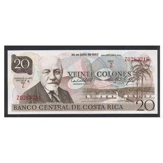 (BN 0017) 1983 Costa Rica 20 Colones,Tyvek Polymer - UNC