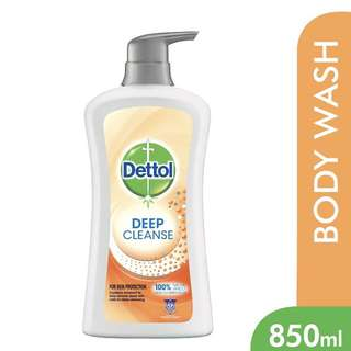 BN Dettol Deep Cleanse Natural Apricot Microbeads Shower Gel 850ml