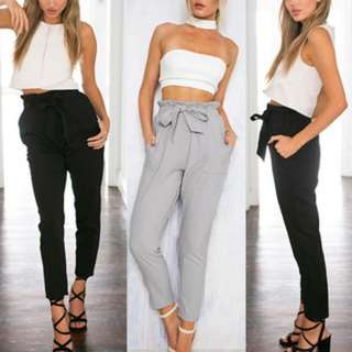 [PO165]Women Vogue Chffion Harem Long Pants Comfy Elastic High Waist