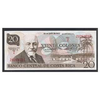 (BN 0017-1) 1983 Costa Rica 20 Colones,Tyvek Polymer - UNC