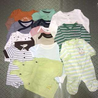 Preloved 0-3 months baby clothes