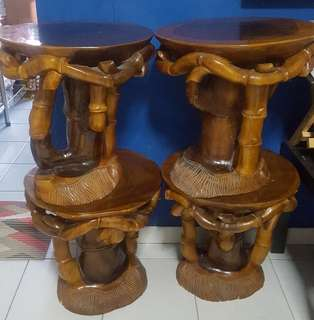 1 set of table and stools