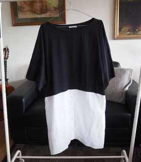 Zara oversized T-shirt dress
