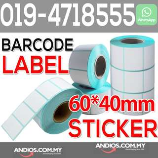60*40mm (800pc) Thermal Barcode Sticker Paper Bar Code Label