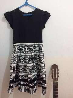 B&W dress - Free Ongkir Bandung
