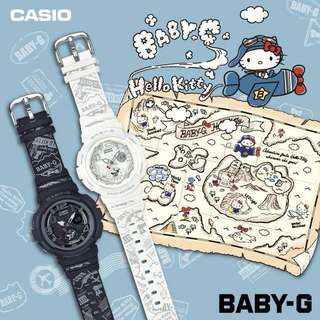 (Looking to exchange For Black) Limited edition Hello Kitty X Baby G (WHITE)