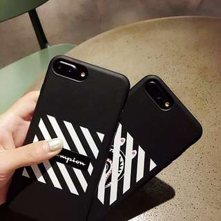 Offwhite X AAPE X Champion iPhone case