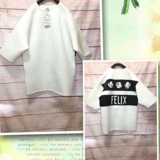 🚚 Queen shop 美式長版太空棉Felix衣