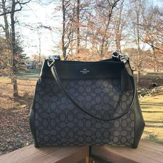 Coach Lexy Shoulder Bag in Smoke Black