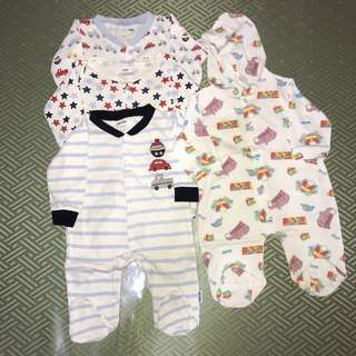 Bundle of 4 Overalls/Frogsuits