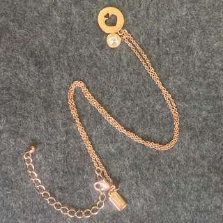 Kate Spade Necklace Rose Gold 玫瑰金通窿頸鏈