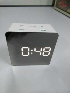 Square Type Mirror LED Clock