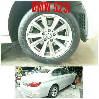 Tyre 225/55 R17 Membat on BMW 523i 🐕 Super Offer 🙋‍♂️