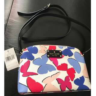 BNWT Auth Kate Spade New York Wellesley Hanna Butterfly Cross-body Bag New