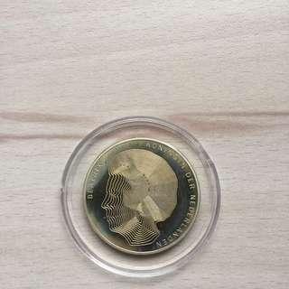 Netherlands 1990 50 Gulden silver coin