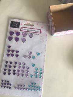 Adhesive Diamond Heart Stickers