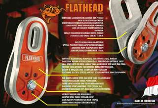 Aluminium alloy snatch block merk Flathead